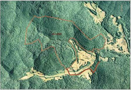 Aerial of Dry Creek