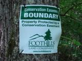 FLC sign -  Conservation Boundary